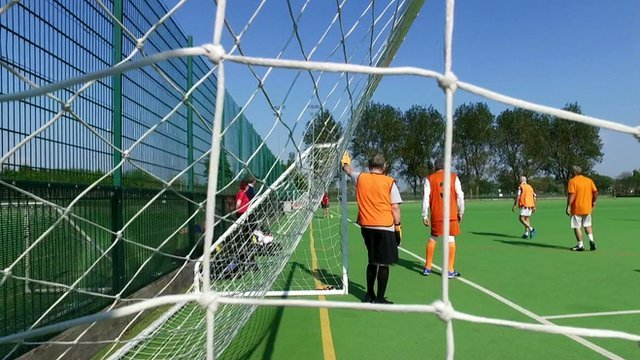Walking football is helping men with mental health problems:    #GetInspired