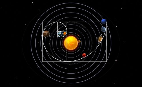 "Image result for solar system fibonacci"""