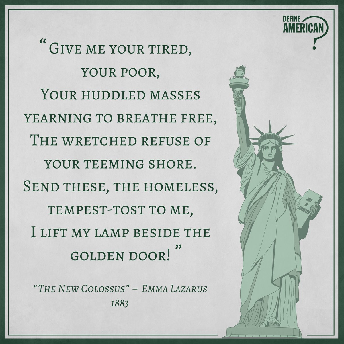 Do The Words On Statue Of Liberty Rule Anything