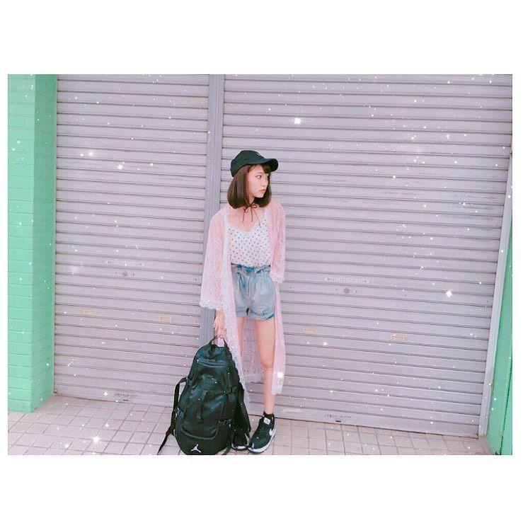 . . . #郡司服 👚👖👟 . . . cap☞ #nike inner☞ #wego lace gown☞ #bubbles pants☞ #dazzlin  bag☞ #ai…