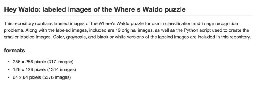 #GitHub repo of labeled images of the Where's Waldo puzzle. #MachineLearning #DataScience