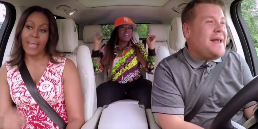 We love EVERYTHING about Michelle Obama getting her 'Carpool Karaoke' on with Missy Elliot.