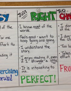 Lisa jenkins on twitter sumread anchor chart from my class this year explicitly teaching how to choose   just right book also rh