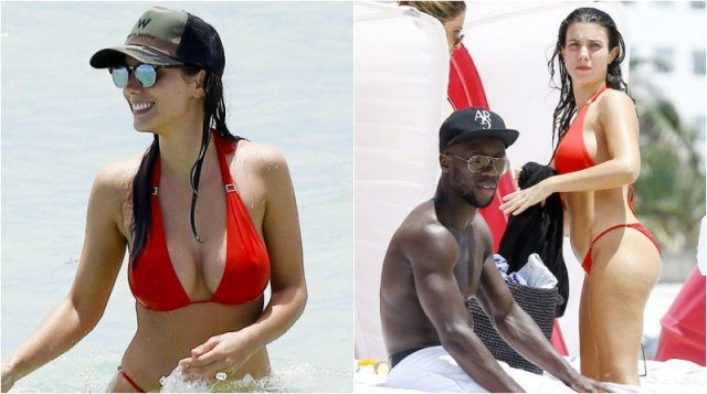Bacary Sagna Spotted With Badly Injured Knee On Holiday With Busty Wife Https