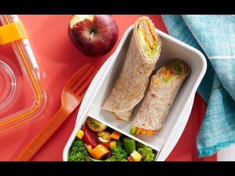 Veggie Tortilla Wraps - Easy School Lunch Recipes - ... -
