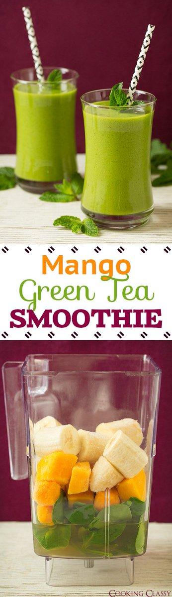 Mango Green Tea Smoothie - vibrant, refreshing and ... -