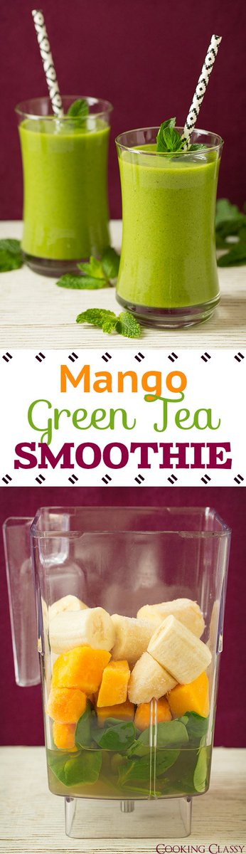 Mango Green Tea Smoothie - vibrant, refreshing and ... -