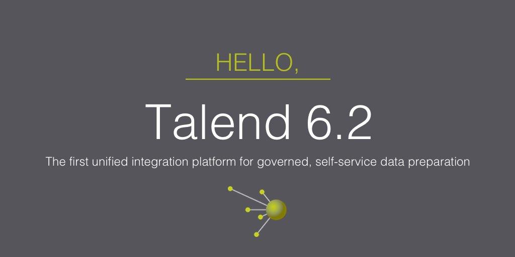 A modern integration platform for the future of #bigdata. Get Talend 6.2 -   #DataPrep #Cloud