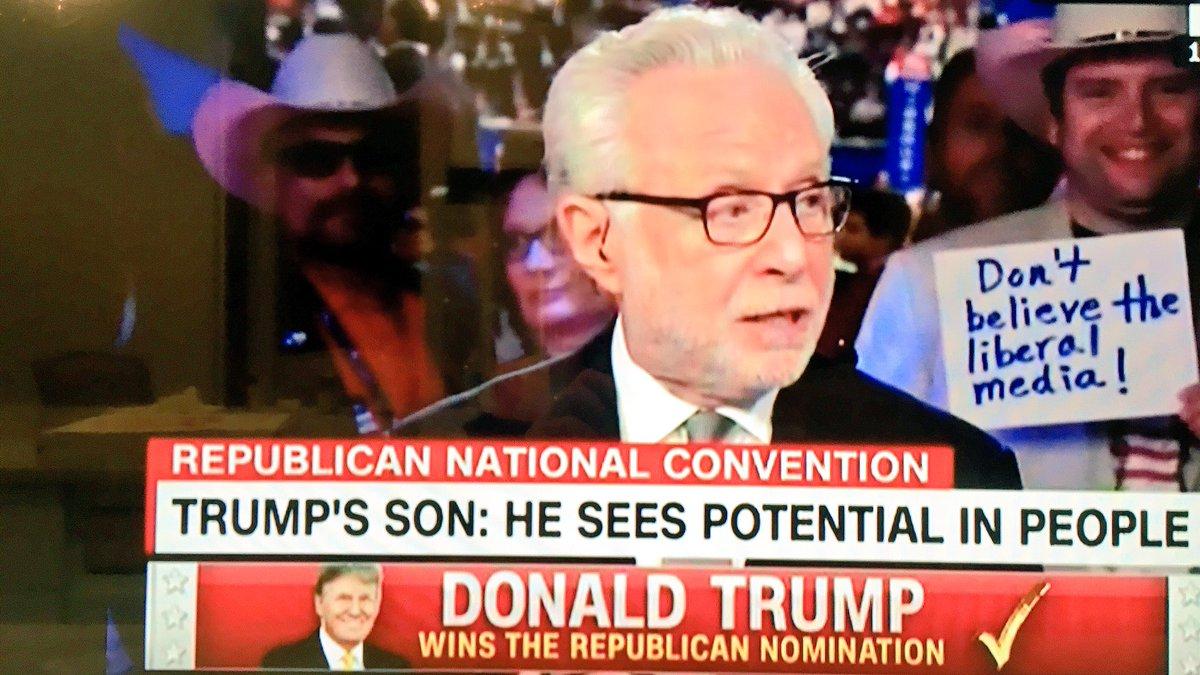 "The Trump Movement On Twitter: ""Wolf, Jake, & Dana Need To"