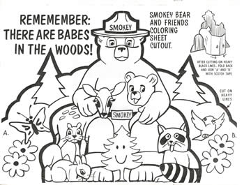 smokey the bear coloring pages # 65