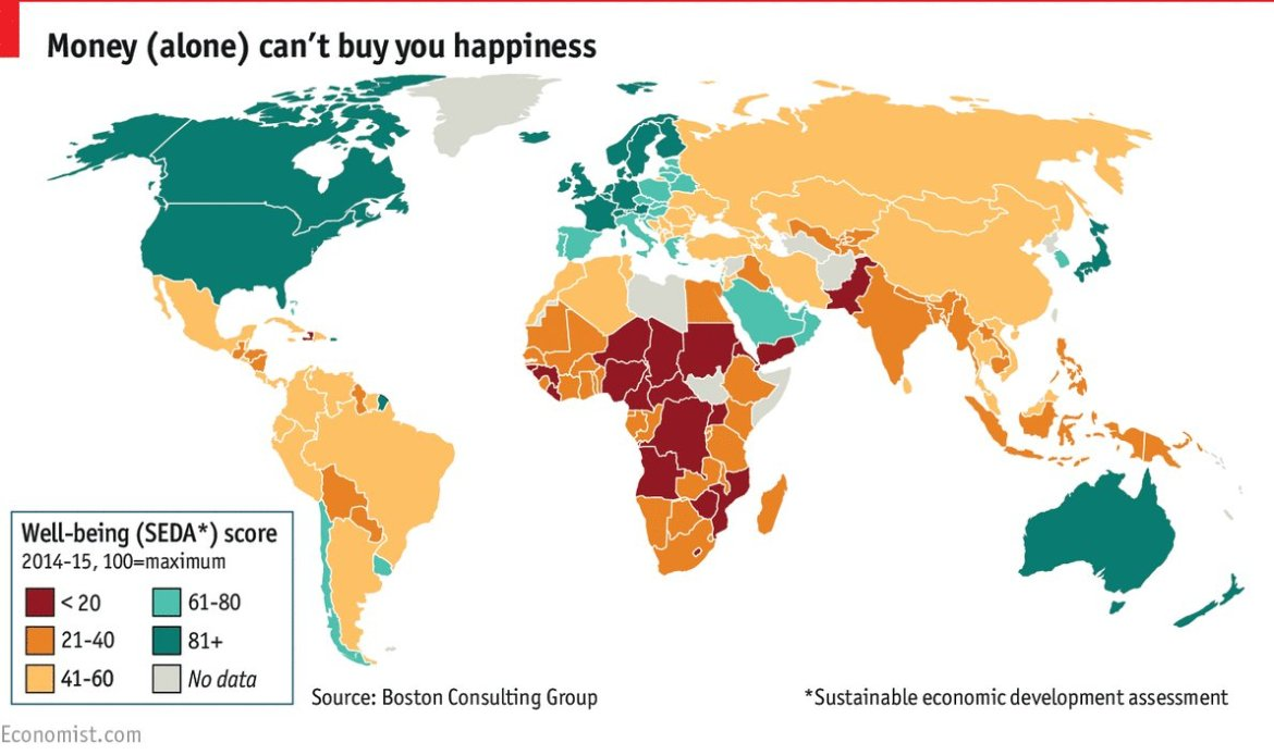 Norway tops a new well-being index from BCG; America comes 19th