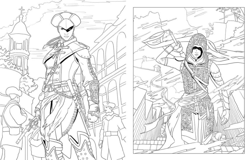 assassins creed costume sketch sketch coloring page
