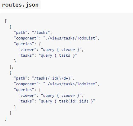 Declarative routes example with React and Relay  #reactjs #relay #javascript