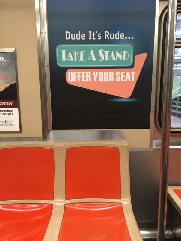Image result for it's rude dude septa