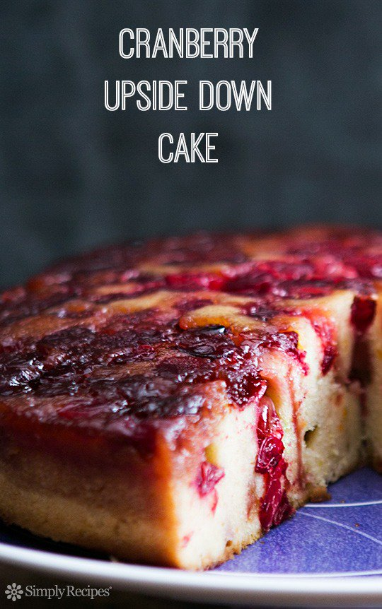 Cranberry Upside Down Cake: Dense and delicious…
