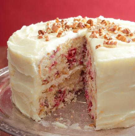 Try this yummy Cranberry Layer Cake tonight