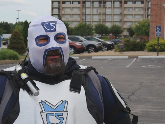 Super hero 'Citizen Saint' fighting crime on Missouri city streets. #weird