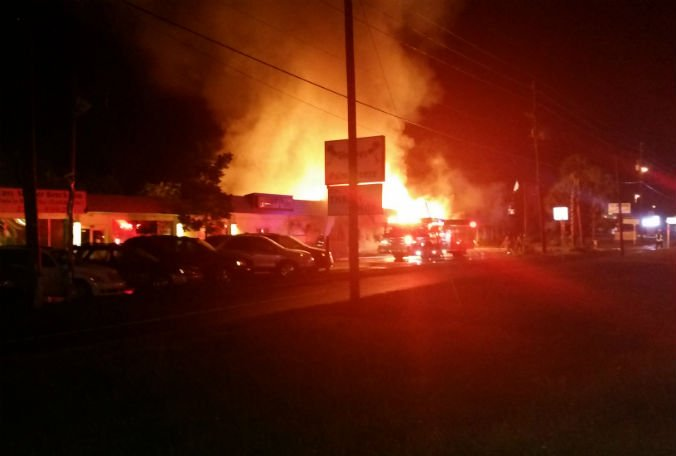 An overnight fire damaged multiple businesses in Crystal River.