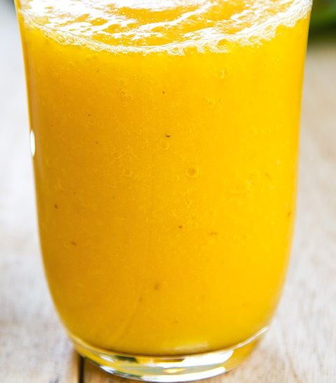 Mango, Coconut, and Pineapple Smoothie