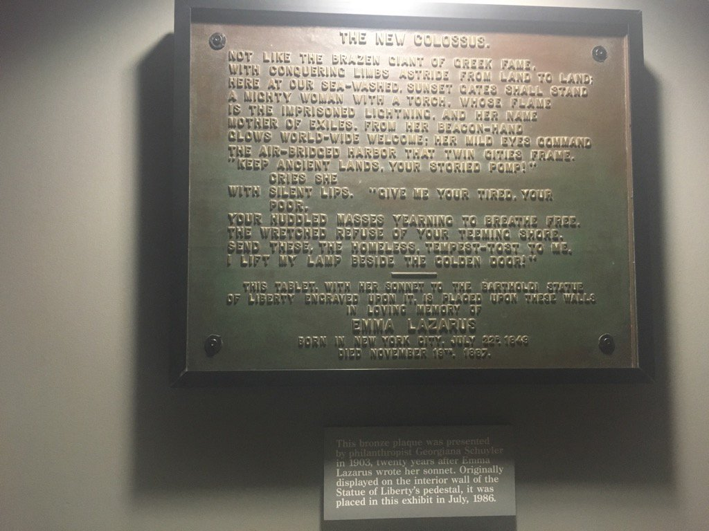 Emma Lazarus The New Colossusysis Ellis Island Era