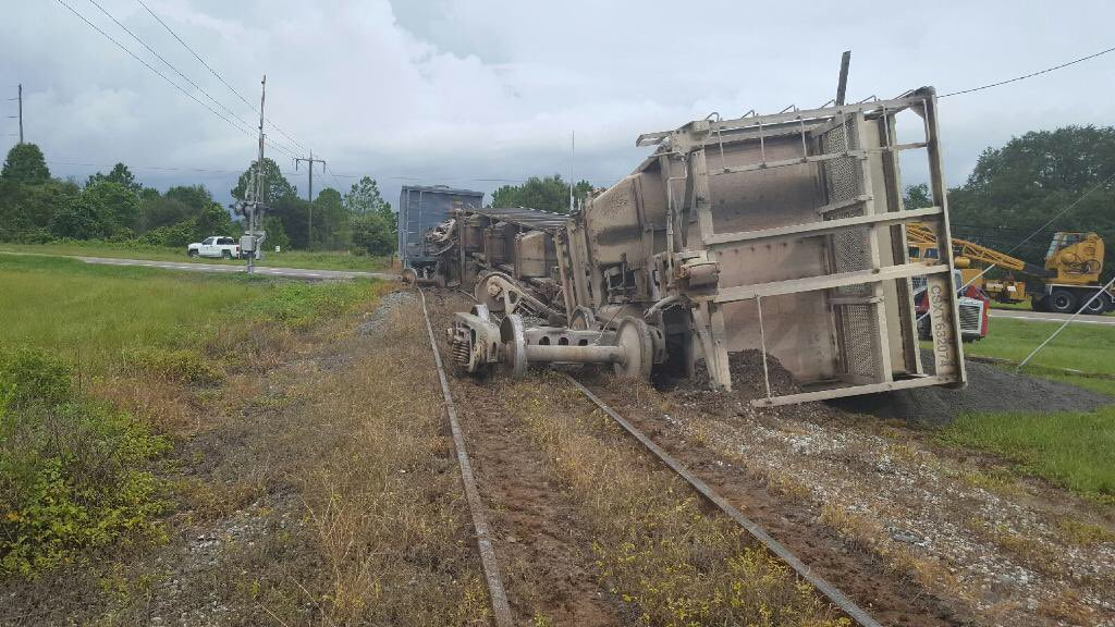 Freight train derails in Polk County. SR-37 closed from SR-62 to SR-674.