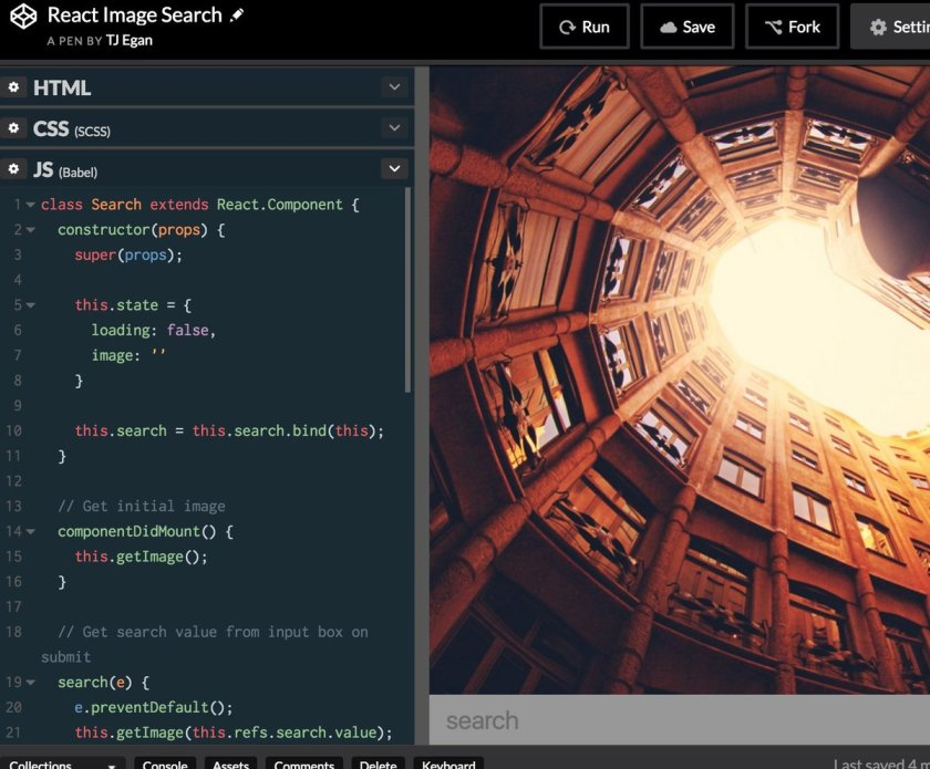 bored in work training => unsplash image search w/ #reactjs    #webdev #webdevelopment #web