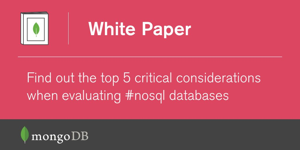 Top 5 Considerations When Evaluating #NoSQL Databases: