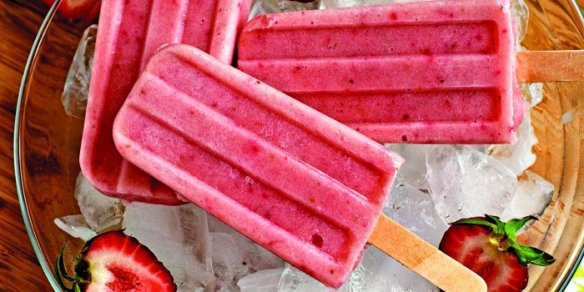 Smoothie Strawberry Banana Popsicles Recipe