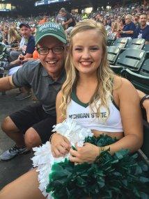Allen Michigan State Cheerleader Brooke