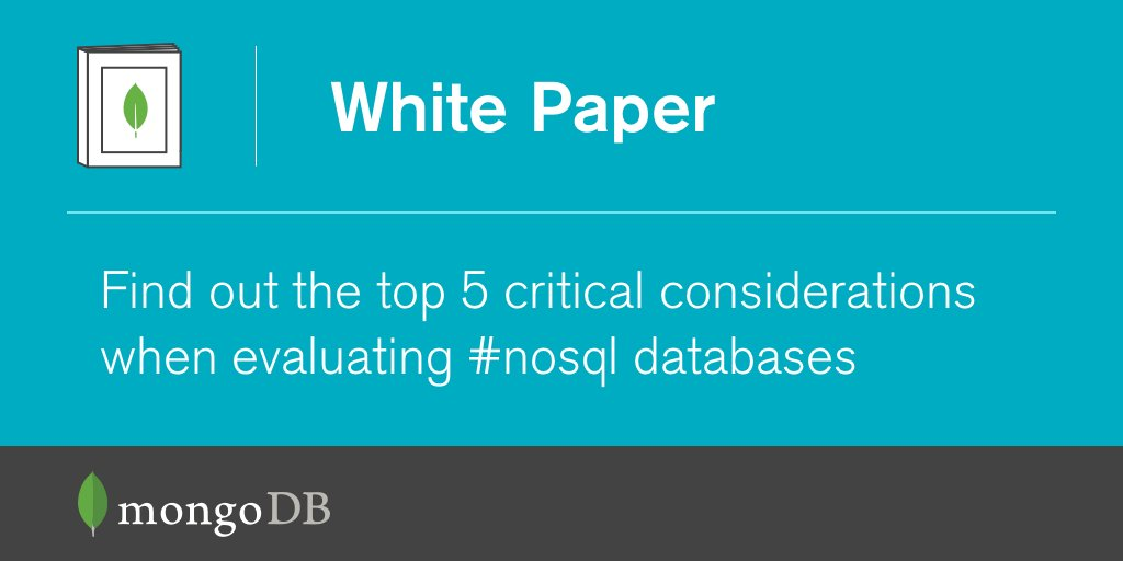 Wondering how to successfully evaluate a #NoSQL database? Learn more here: