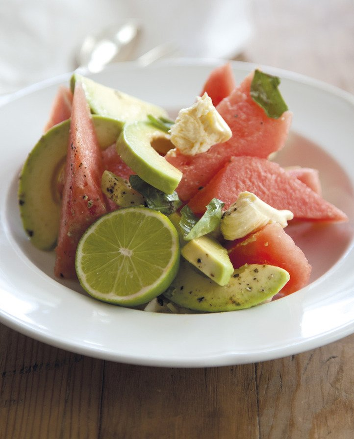 What\'s without watermelon? See below for a light watermelon avocado salad .