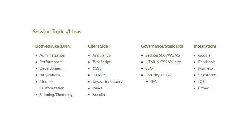 Are you an #Angularjs #reactjs #Aurelia #TypeScript dev? Present at #DNNSummit  #OSS