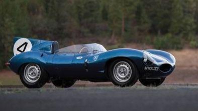 Historic Jaguar sets record for British car at auction>