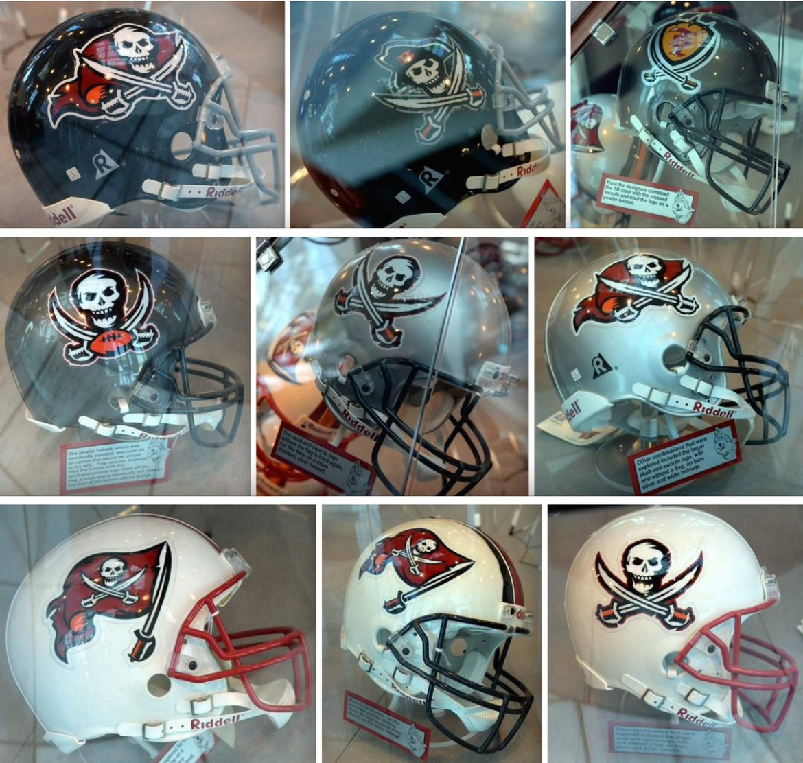 Bucs prototype options from 1997, when team switched from Bucco Bruce to pewter shell. More: