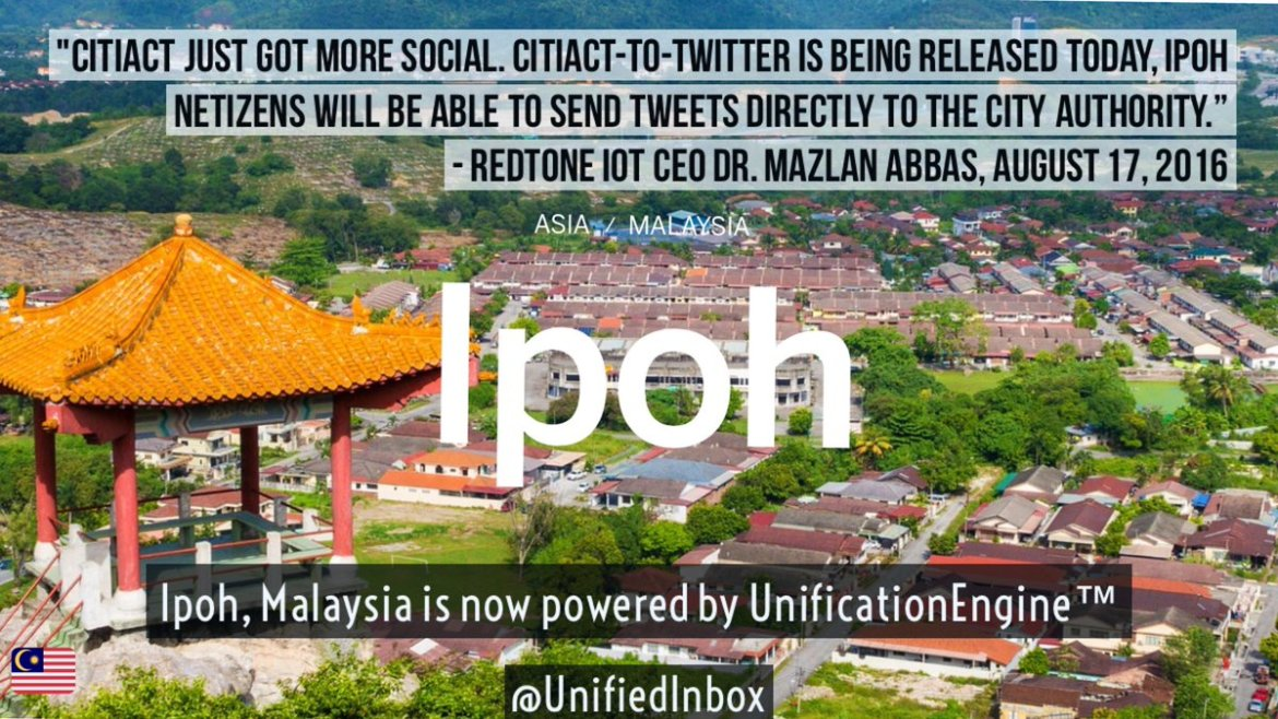 HOW is #Ipoh, #Malaysia using #IoT? Through @REDtoneIOT's #CitiAct - ! 🇲🇾 #smartcities