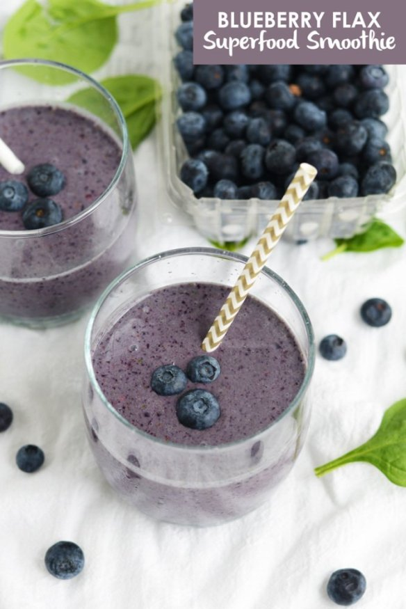 Blueberry Flax Superfood Smoothie
