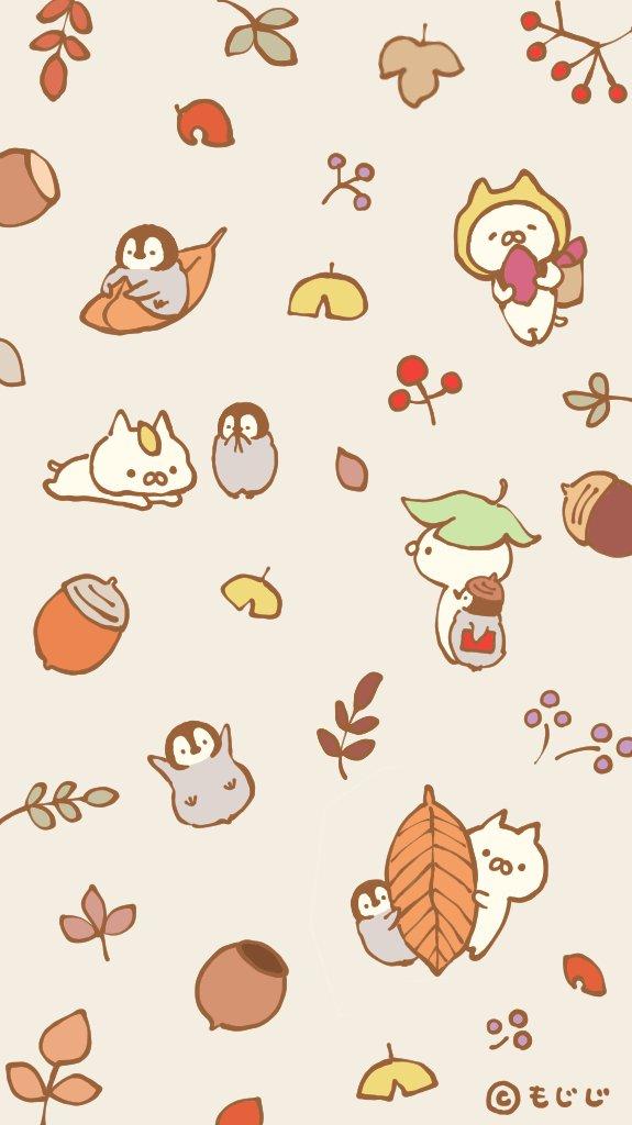 Pc Cartoon Fall Wallpapers もじじ On Twitter Quot ちょい早いですが秋の壁紙を作りましたのでよろしかったら🍂