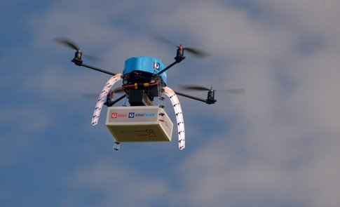 Delivered by drone - from 🍕 to life-saving 💊💉  #drones #UAV @dominos @amazon @google