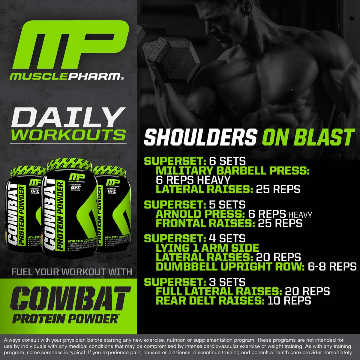 Musclepharm On Twitter Daily Workouts Shoulders Muscle Pharm Workout Program Jpg 1200x1200 Laron