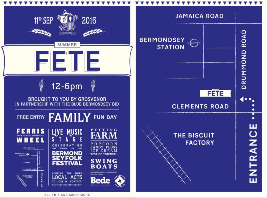 Bermondsey Summer Fete 2016 posters