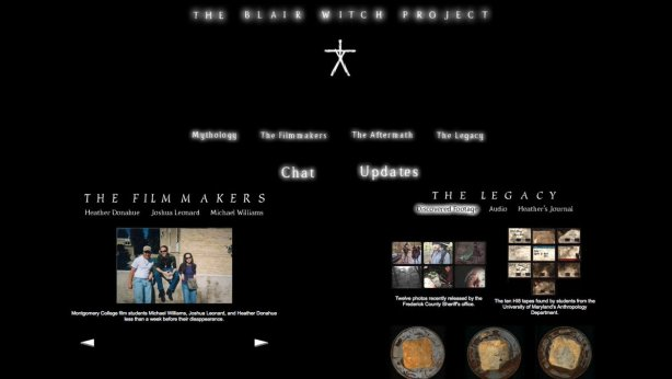 Image result for the blair witch website 1999