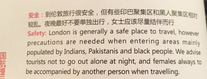 air china racist magazine article