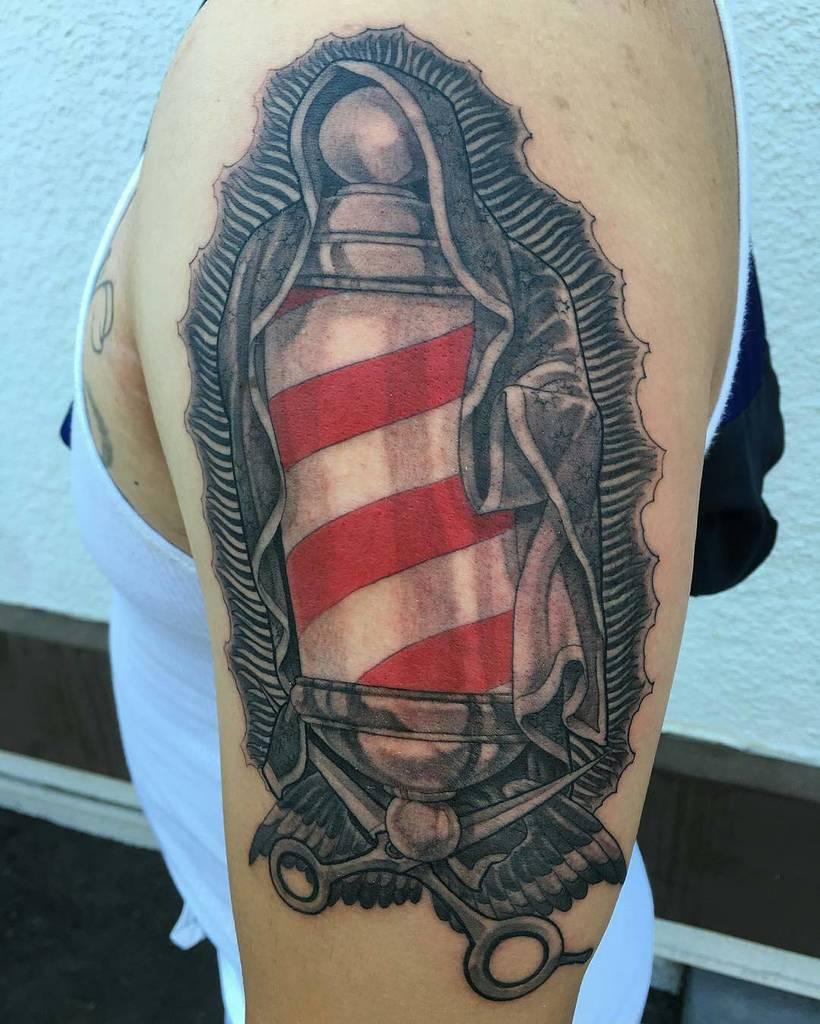 Barber Pole Tattoo : barber, tattoo, Tattoo, Twitter:,