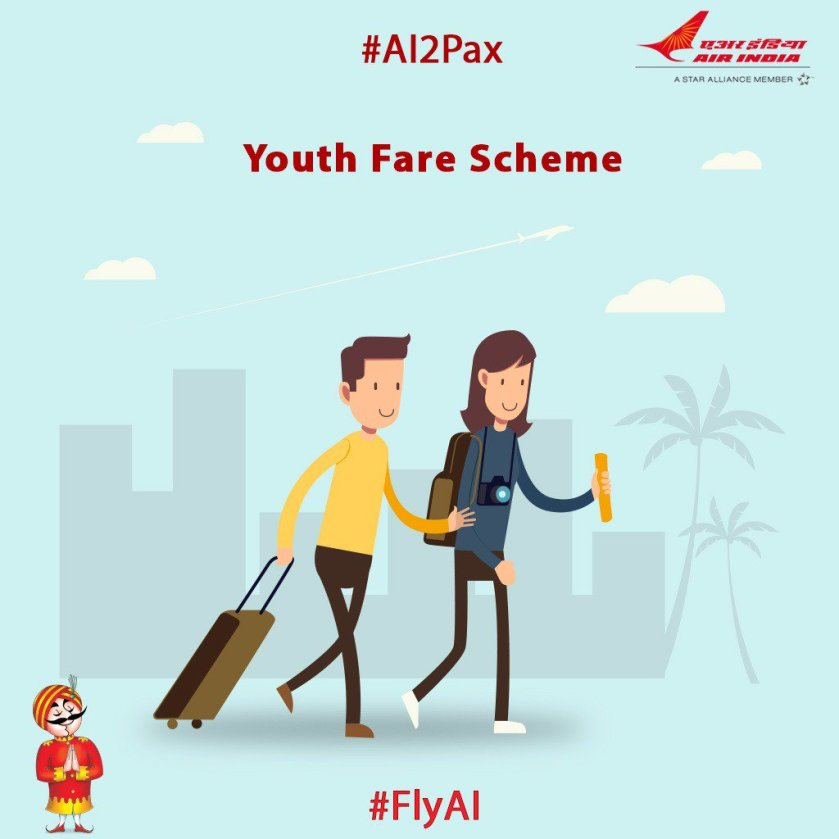 #AI2Pax:#AI offers its young pax, fares to travel the world at ease with 'Youth Fare Scheme',