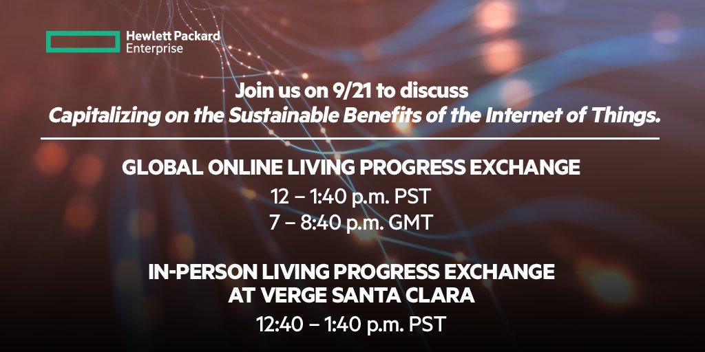 Whether you'll be @ #VERGEcon or not, join our #LivingProgressExchange to talk #IoT & sust.: