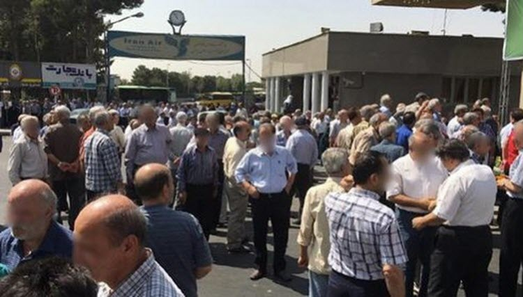 #Iran: three protests in different cities of Iran #AI