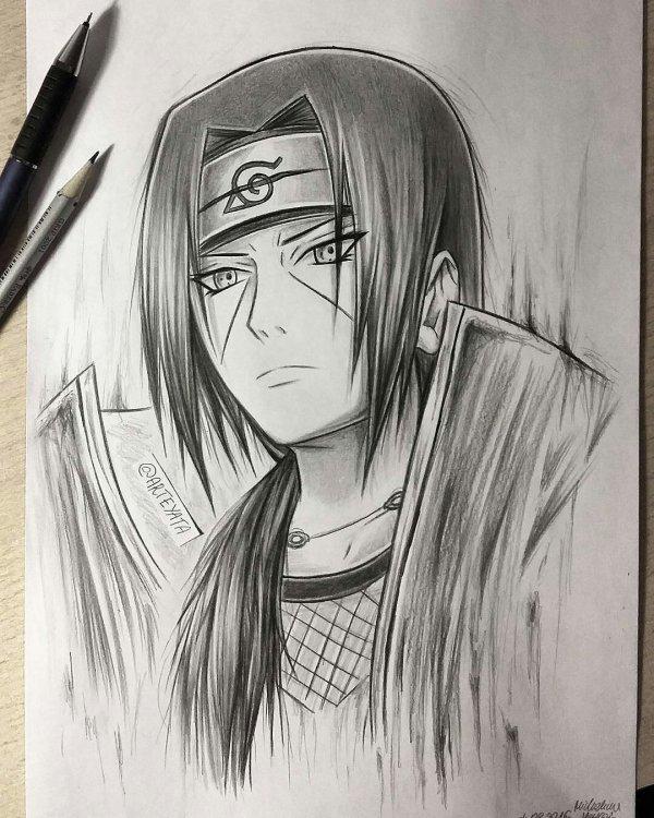 Sasuke Uchiha Shippuden Sharingan Drawing Polrestadepok