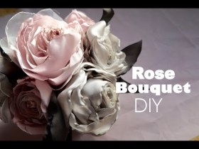 Satin Rose Bouquet DIY - Elegant Holiday Decorations - Crafts DIY homemade