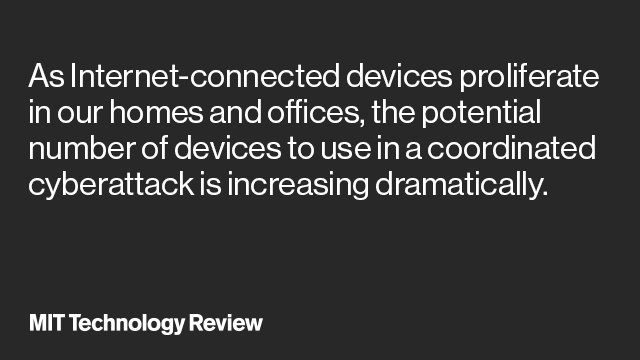 Over 1 million devices working at a hacker's whim on @techreview  #IoT #cybersecurity