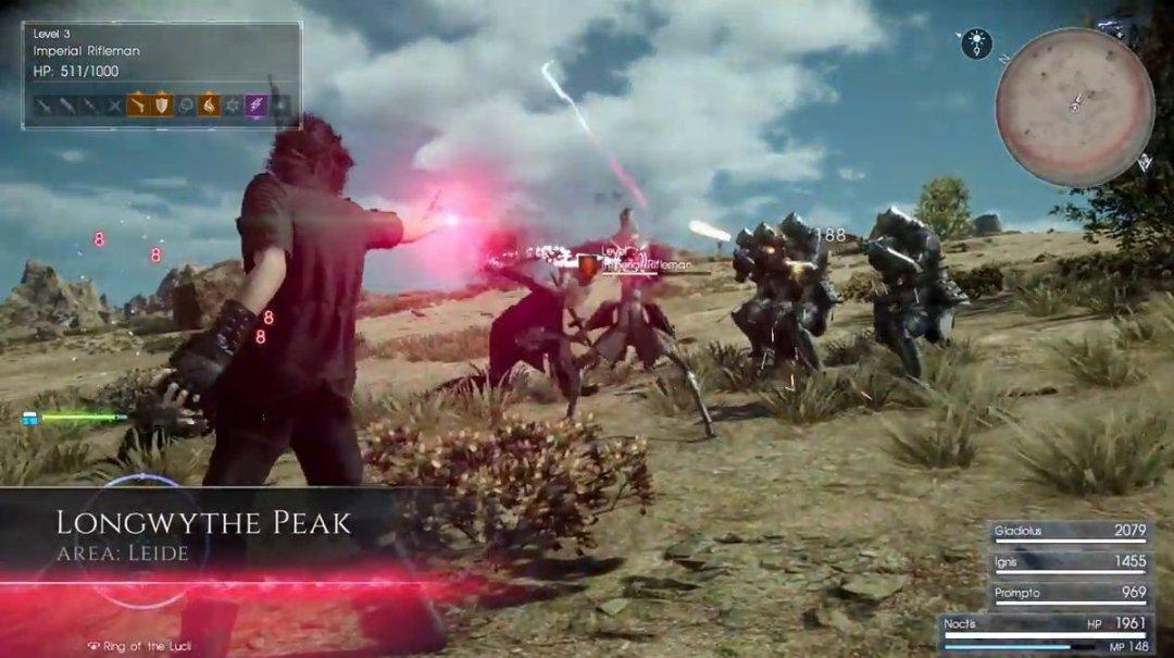 Final Fantasy XV Death Spell Gameplay 2